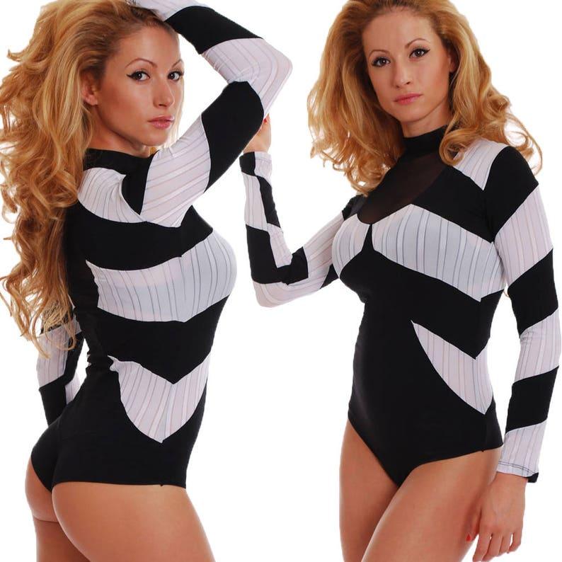01f756e2a5cc Body Blouse Women Bodysuit Long Sleeve Top Blouse Leotard Polo