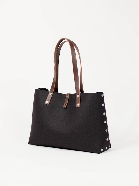 Felt Shoulder Bag Felt Handbag Black Bags   Purses Shoulder  553725c71442e