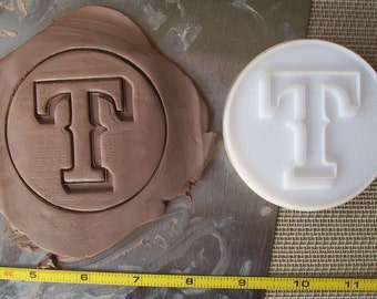 """Custom Pottery Stamp or Polymer Clay Embossing Die under 2"""""""