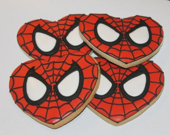 8ee85e3a75f317 Spiderman heart cookies