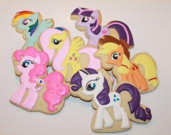 Pony Cookies (Inspired by My Little Pony ) One Dozen 12