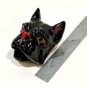 Vintage Dog Face Head Large Mouth Bone China Ashtray Marked Patent Pending TT