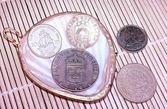 Ausländische Münzen Magnete Packung Mit 5 Aus Verschiedenen Etsy
