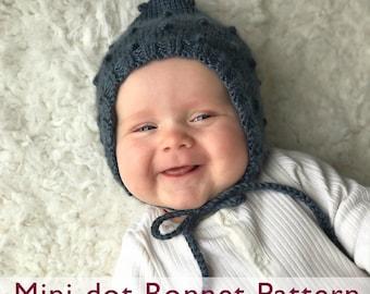 Mini-dot Pixie Bonnet Pattern