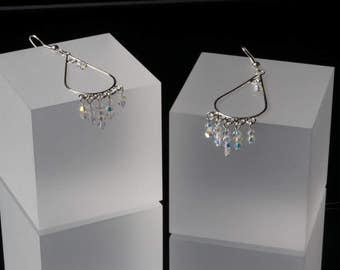 Sparkly Crystal Swarovski Chandelier Earrings