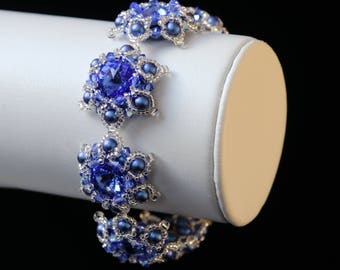 Swarovski Sapphire Crystal Bracelet