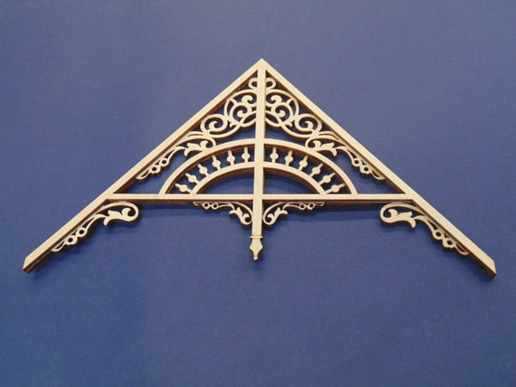Dollhouse Miniature 1:12 Scale Victorian Gable 12//12 Roof Pitch