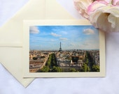 Eiffel Tower Paris Greeting Card - Blank Card - Stationary - Paris Photo Print - Photo Cards - Holiday Gift - Cards