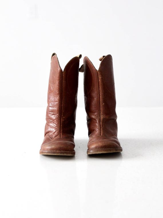 vintage children's leather western boots