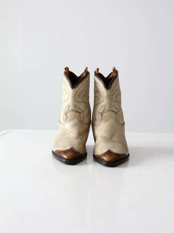 vintage children's western boots,  1940s cowboy bo
