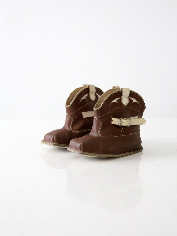 vintage baby cowboy boots, 1950s baby shoes