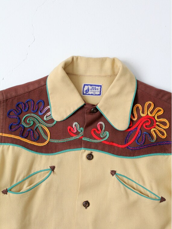 vintage kid's western shirt, 1950s cowboy shirt - image 2