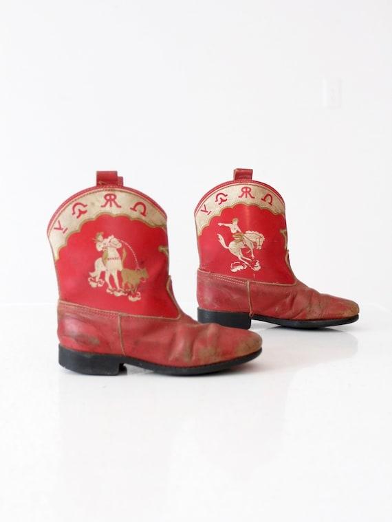vintage 50s children's cowboy boots