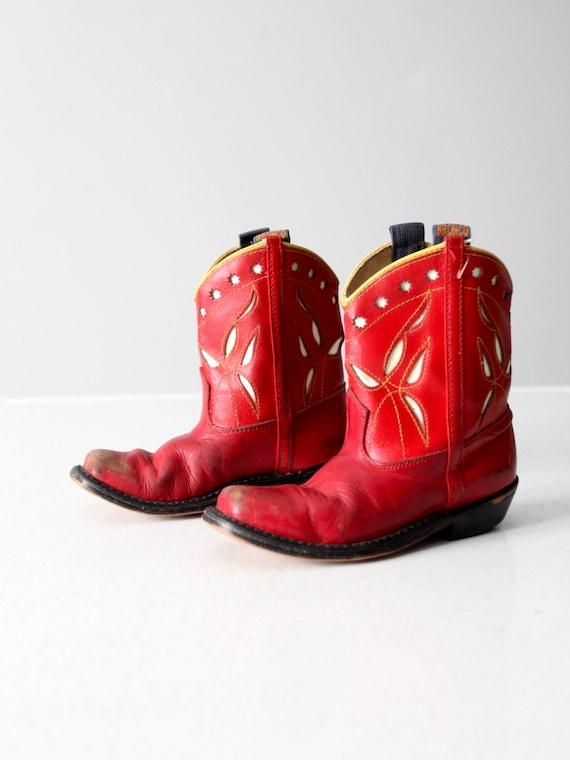 vintage 40s Bronco kids cowboy boots