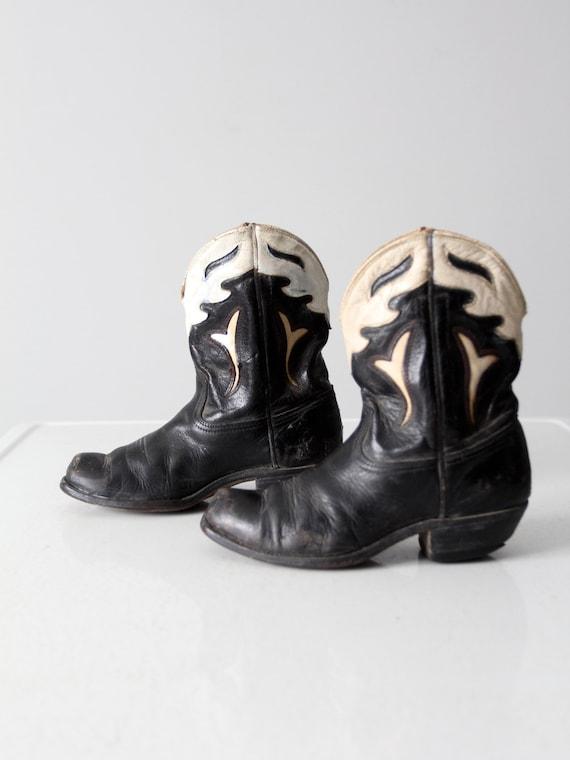vintage kids' Acme peewee cowboy boots circa 1940s