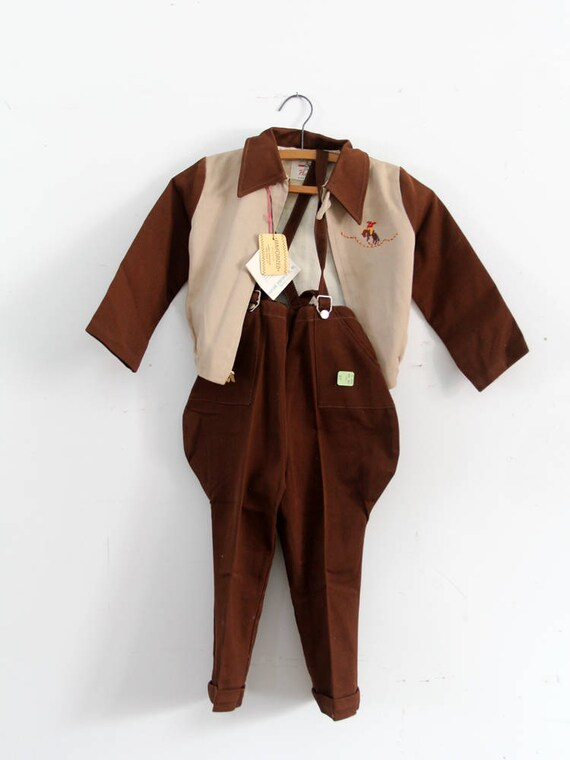 vintage children's jacket and overall set
