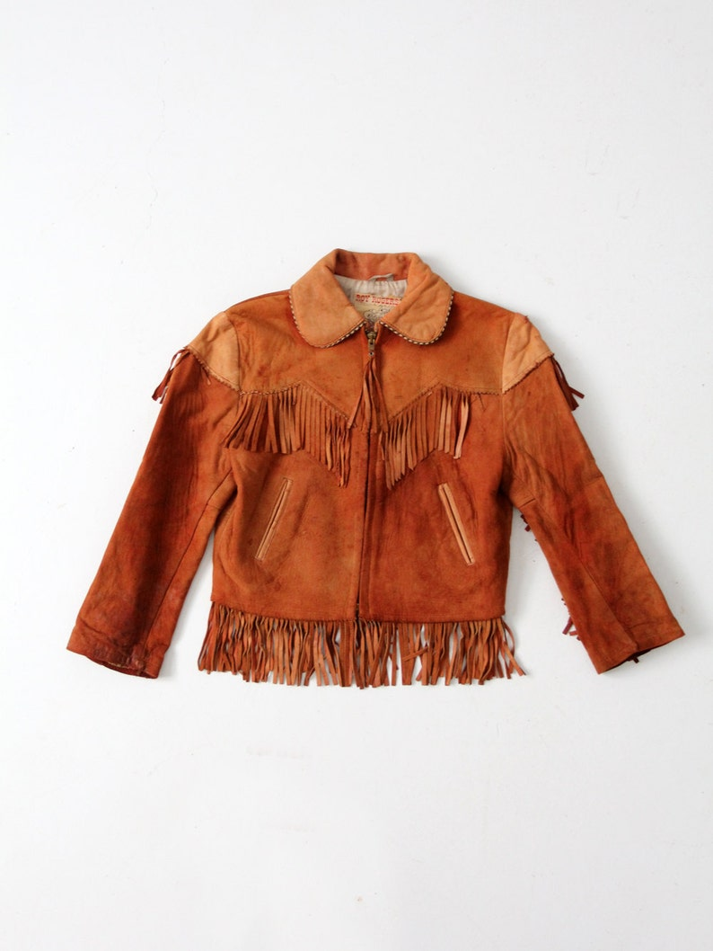 1950s Roy Rogers leather jacket children s western jacket  4b81fb94b