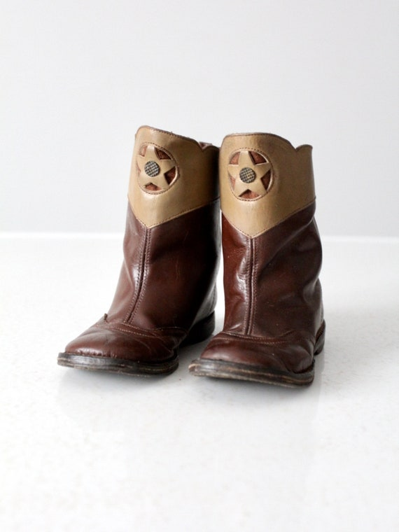 vintage 50s kid's cowboy boots