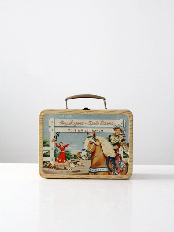 vintage western lunch box, Dale Evans and Roy Rogers