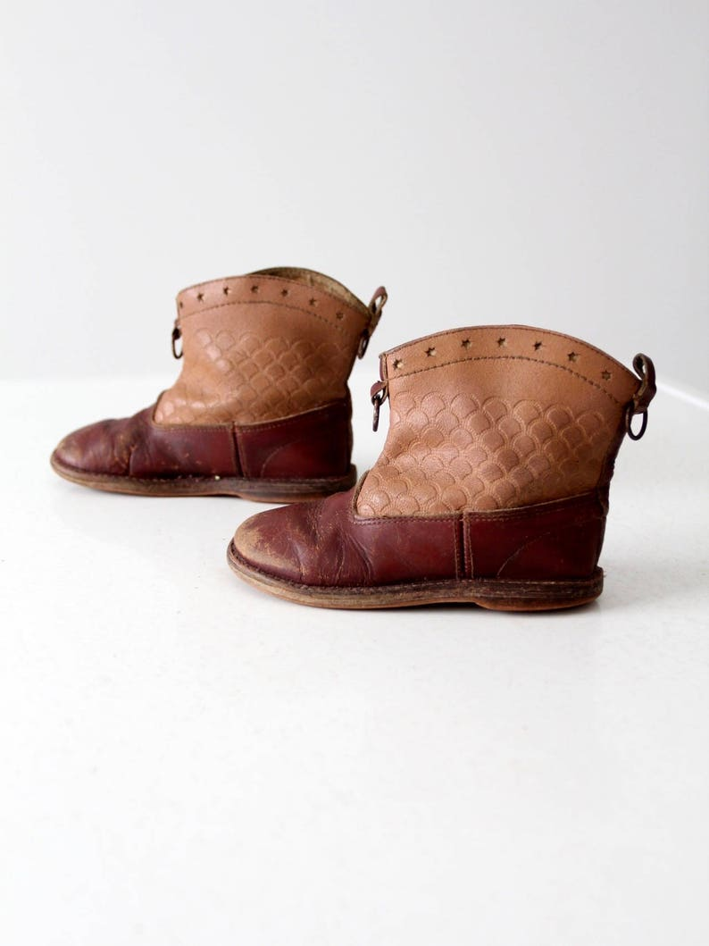vintage 50s children/'s western boots kid/'s cowboy boots