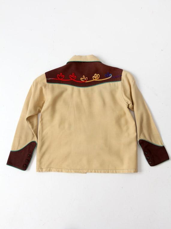 vintage kid's western shirt, 1950s cowboy shirt - image 3