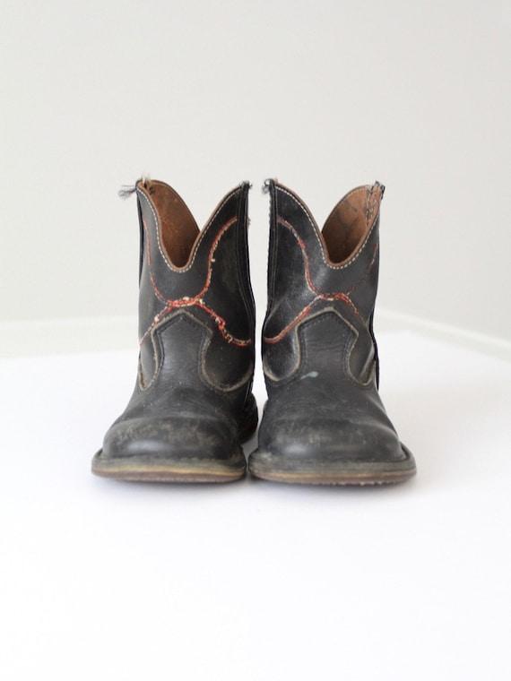 vintage children's cowboy boots, kid's 40's wester