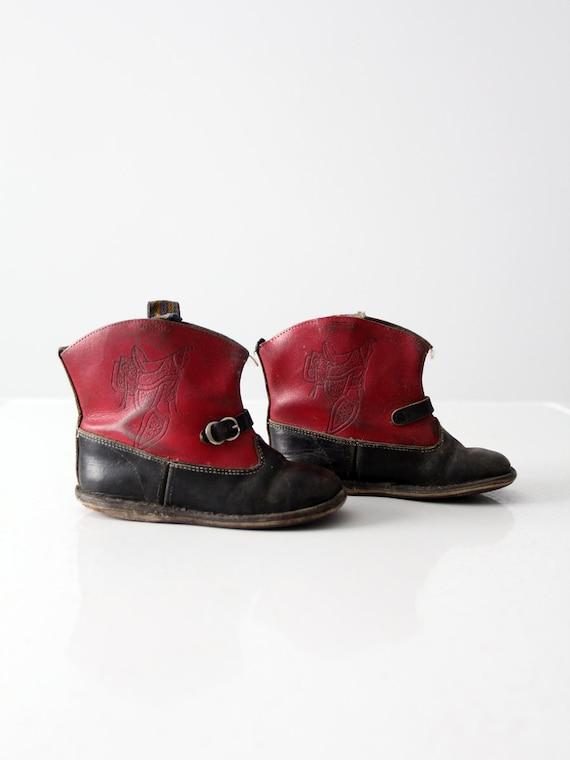vintage 50s children's western boots, kid's cowboy