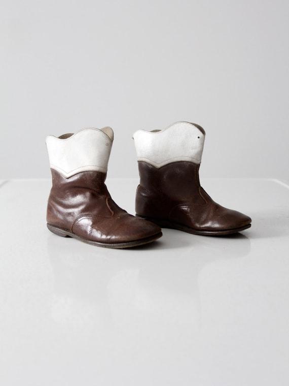 1950s children's cowboy boots, vintage kid's weste