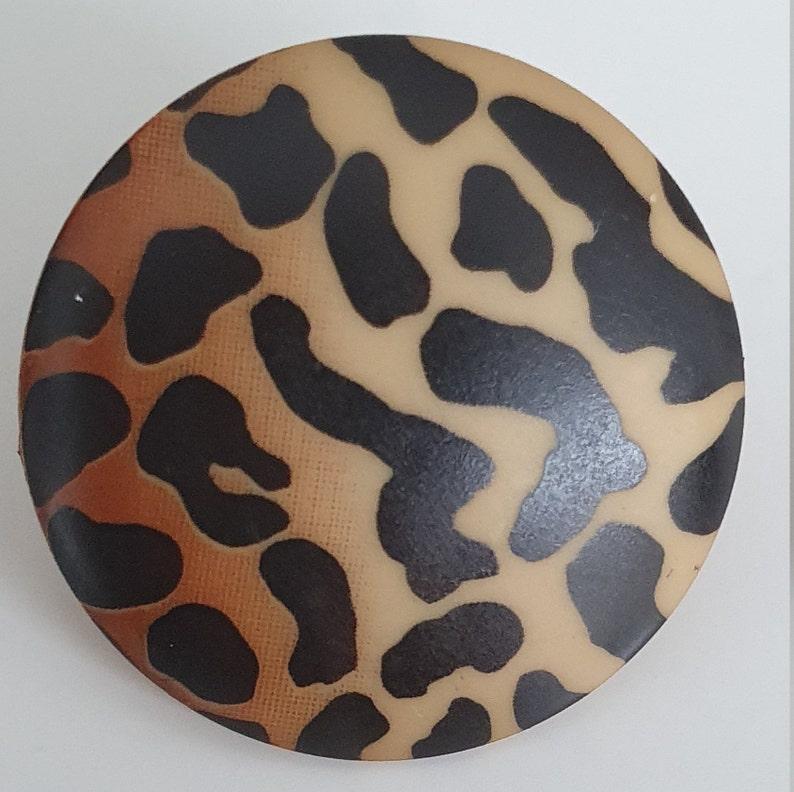 Leo-Print fashion button 20 mm