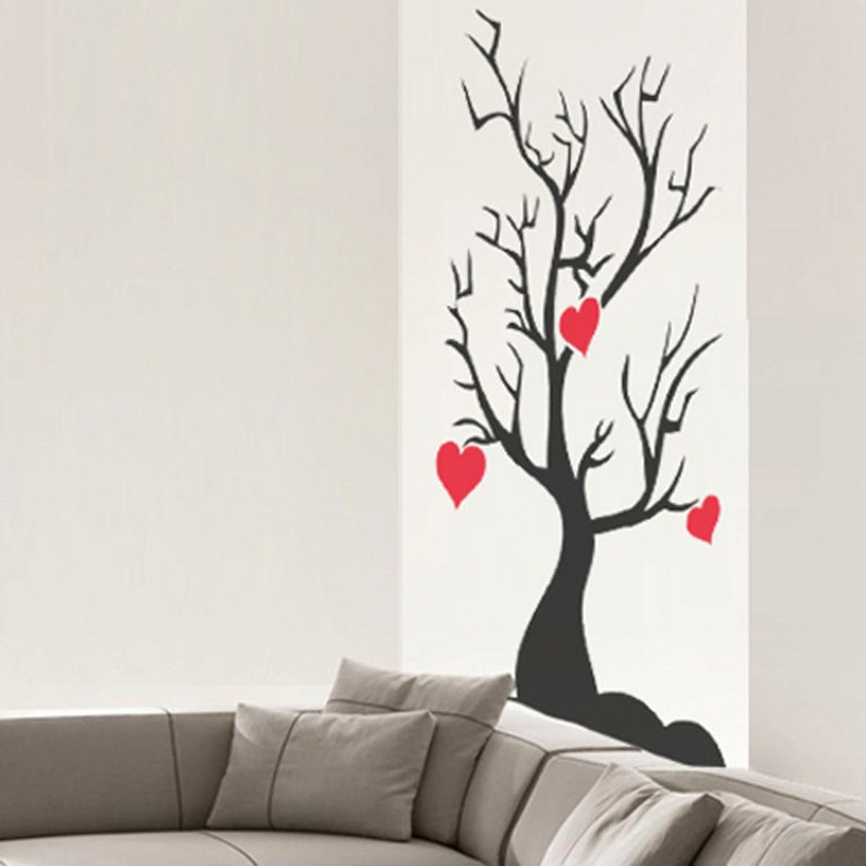 The Love Tree Wall Decal Art Home Deco Vynil Office Living Room Front Desk CREATIVE DESIGN
