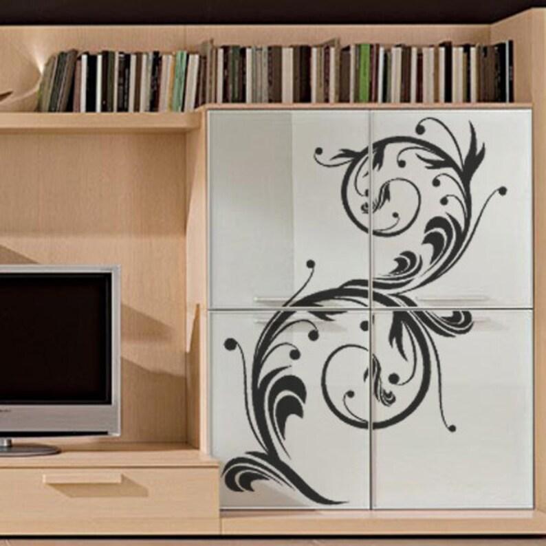 Floral Motif Sticker Wall Decal Art Home Deco Vynil Children Room Living Room Bedroom Front desk Bar decor