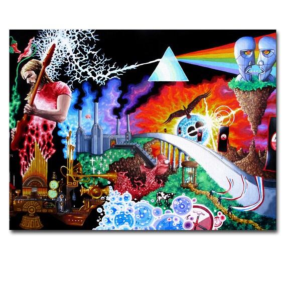 Art Canvas Print Panel Pink Floyd Wall Art Framed home decor | Etsy