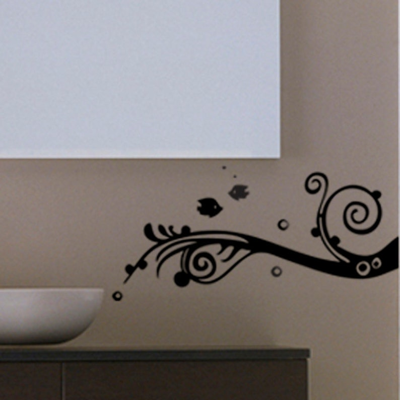Fish Motif Sticker Wall Decal Art Home Deco Vynil Children Room Living Room Bedroom Front desk Kitchen decal