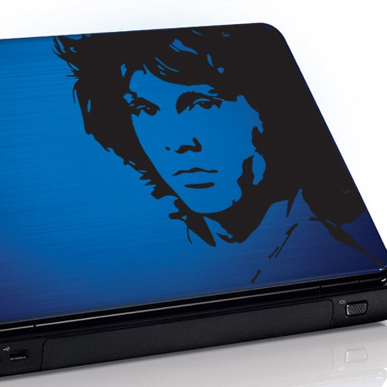 Macbook sticker or any laptop laptop skin Laptop decal Jim Morrison sticker laptop case Available Sizes