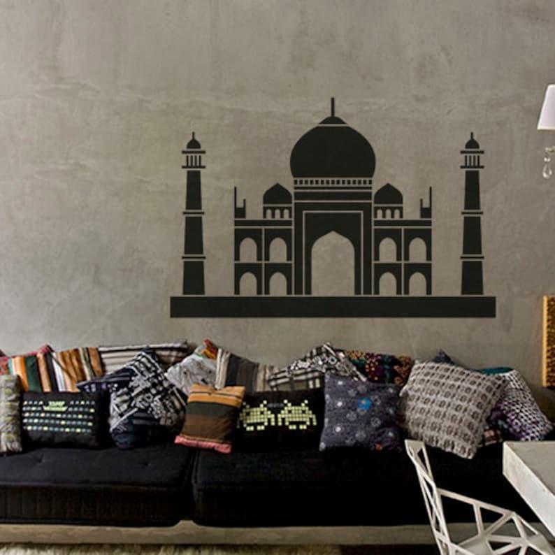 Taj Mahal Sticker Wall Decal Art Home Deco Vynil Children Room Living Room Bedroom Front desk Bar decor