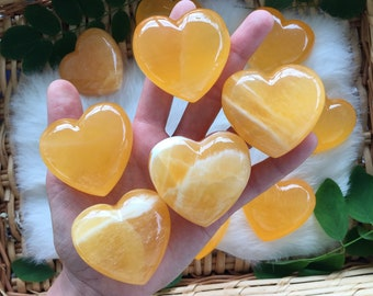 Orange calcite heart, orange calcite, calcite, calcite heart, crystal heart, gemstone heart , heart shaped rock