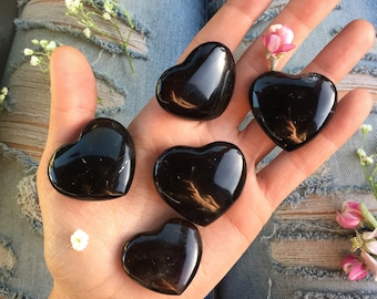 Smoky quartz heart, quartz Hearts, smokey quartz heart, protection stone, healing stone, love stone