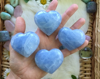 Blue calcite heart, blue calcite, calcite, calcite heart, crystal heart, gemstone heart , heart shaped rock