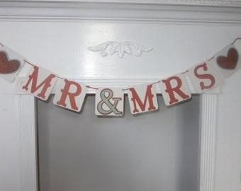 Mr Mrs Banner Wedding Banner Photo Prop Banner