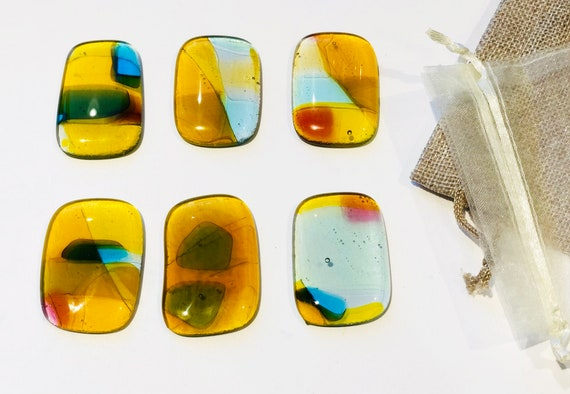 Wall Jewelry Amber Kit - Home Deco- Wall Hanging- Bright Transparent Colors.