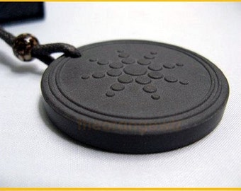 7k Natural Power Ionic Disc + Lava Cell Shield for EMF Protection Scalar Symbol Pendant
