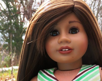 Beautifully Customized American Girl Doll, freckled-face cutie!