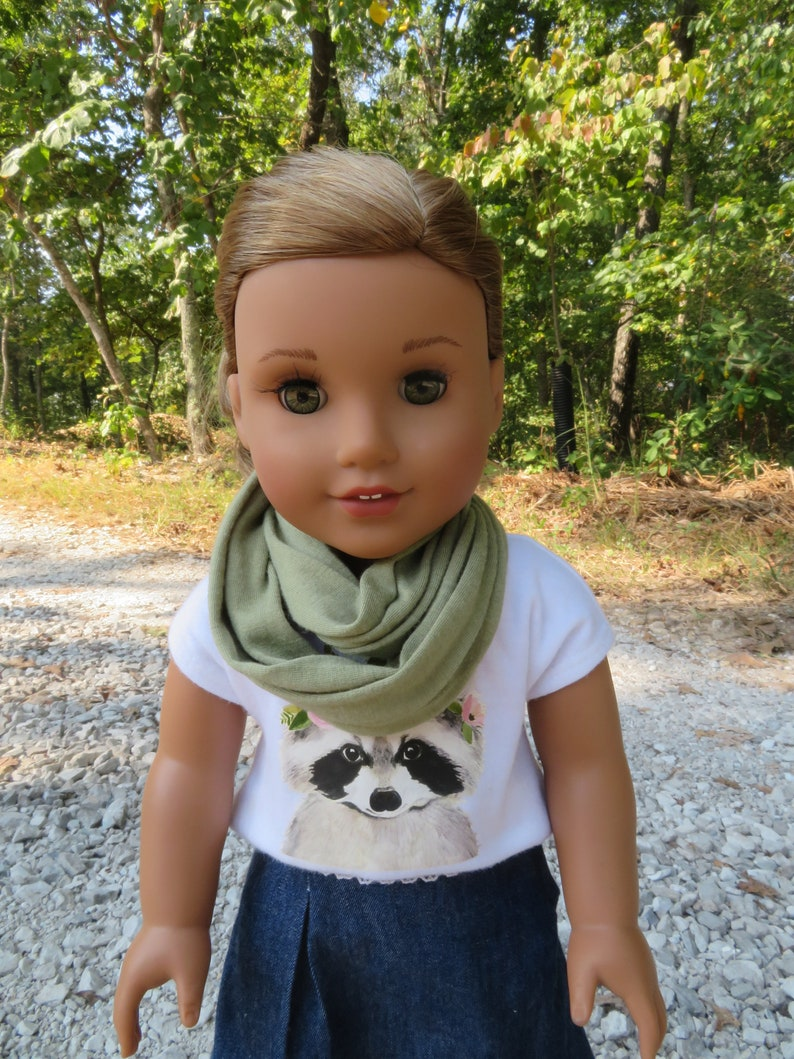 Olive Bay Infinity Scarf for 18'' American girl doll image 0