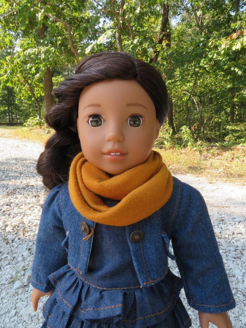 Pumpkin Spice Infinity Scarf for 18'' American girl image 0