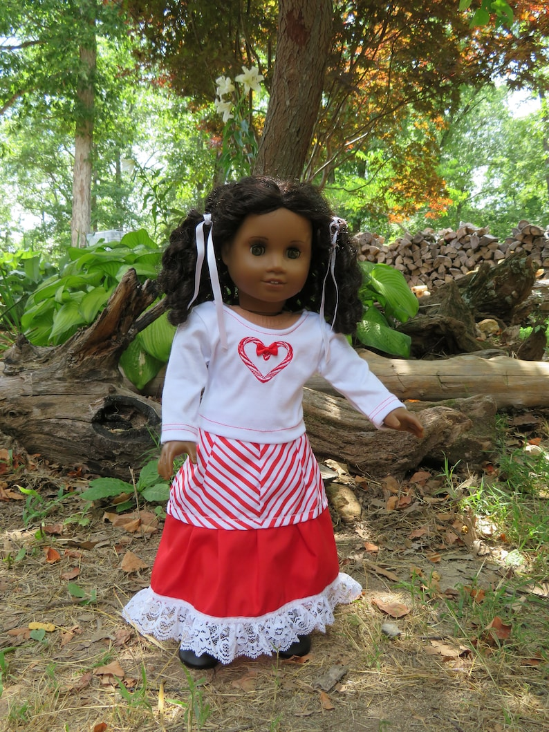 18'' Doll Shirt & skirt outfit Holiday image 0