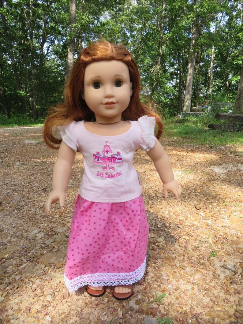 Glitter Polka dot Skirt for 18''  American Girl Dolls image 0