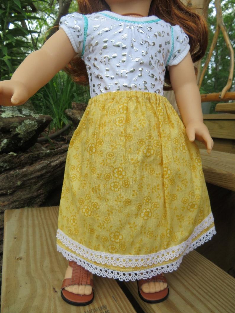 Floral Skirt for 18'' American Girl Dolls image 0