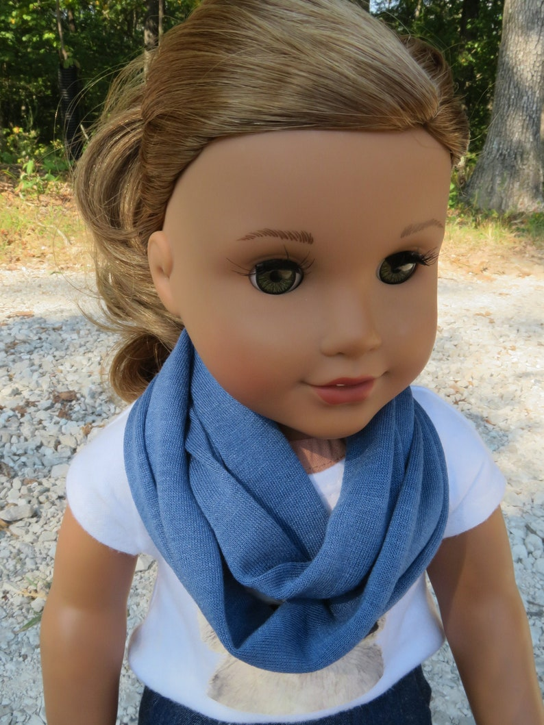 Stormy Blue Infinity Scarf for 18'' American girl image 0