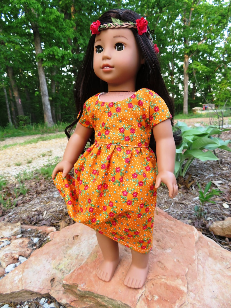 18 Floral Doll Dress   fits like AG clothes image 0