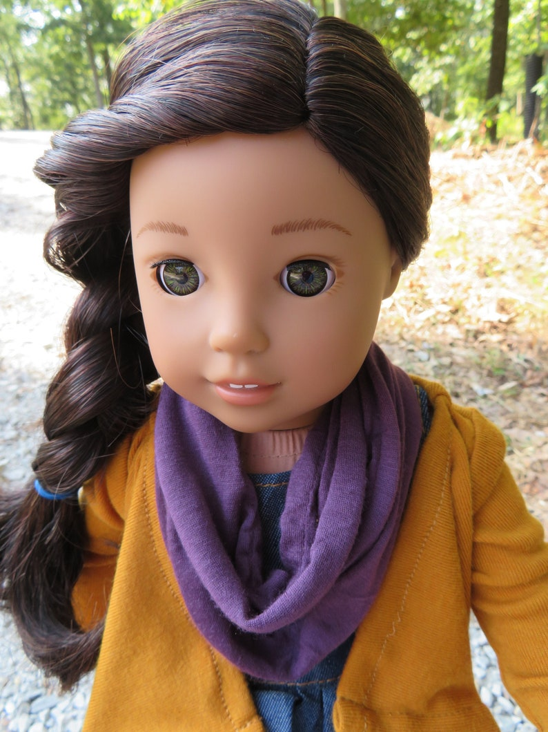 Vintage Grape Infinity Scarf for 18'' American girl image 0